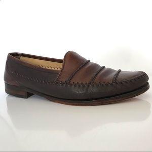 MEZLAN Spyder Deerskin Calf Leather SlipOn Loafers